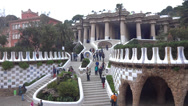 Stock Video Footage of park guell entrance