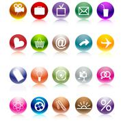 Web buttons - stock illustration