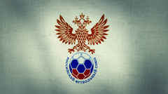 Russia National Football Team Flag Textured (Loop-able) Stock Footage
