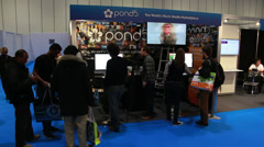 Pond5 at BVE 2014 in London Stock Footage