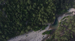 Aerial corsica river trees Stock Footage