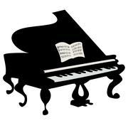 Grand piano Stock Illustration