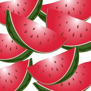 watermelon - stock illustration