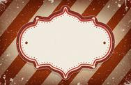 Stock Illustration of vintage  circus inspired frame with a space for text