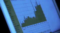 Research the business data chart from web,computer show financial digital. Stock Footage