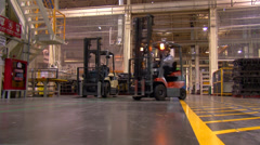 Manufacturing Production Line in Automotive Factory Stock Footage