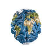 Earth brain Stock Illustration