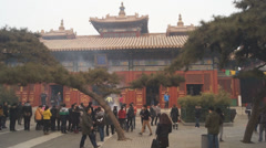 Beijing Lama Temple Yonghegong 10 Stock Footage