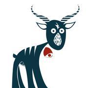 Goat - stock illustration