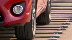 Automobile Testing Area Stock Footage