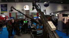 Technodolly at BVE show in London Stock Footage