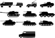 Stock Illustration of tank and war machine vehicles