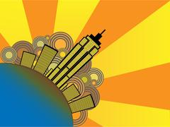 Abstract City Vector Illustration Stock Illustration