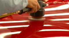 Car polishing, car cleaning Stock Footage