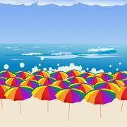 Beach-scape - stock illustration