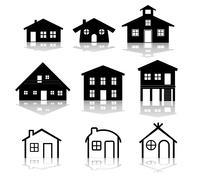 Simple house illustrations Stock Illustration