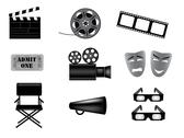 Stock Illustration of movie vector icons set