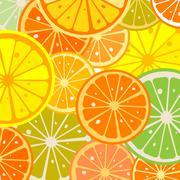 Lemon slices - stock illustration