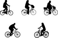 Stock Illustration of illustrations of bicycle riders