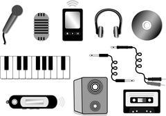 Audio equipment illustration Stock Illustration