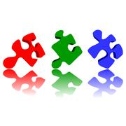 Puzzle pieces Stock Illustration