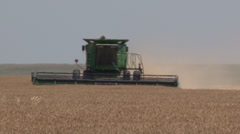 Front View of Combine - stock footage