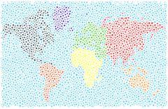 Tyylitelty maailmankartalla Piirros