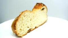 Braided yeast bun Stock Footage