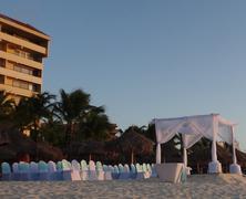 Wedding on aruba beach Stock Photos