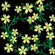 Background floral - stock illustration