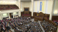 Session of the Ukrainian Parliament (Verkhovna Rada of Ukraine) Stock Footage