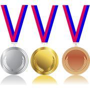 Medals - stock illustration