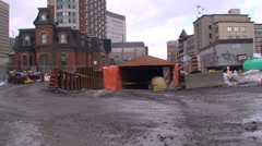 Entrance to the Light Rail Tunnel (LRT). #12-22 Stock Footage