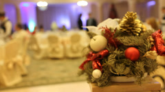 Christmas and New Year party. Stock Footage