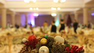 Stock Video Footage of Christmas and New Year party.