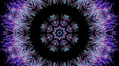 Kaleidoscopic Purple Peacock Feathers, Motion Background Stock Footage