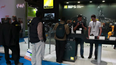 NIKON at BVE show in London 2014 Stock Footage