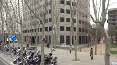 Pedralbes av. barcelona Stock Footage
