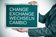 Stock Illustration of change, exchange, wechseln, cambio