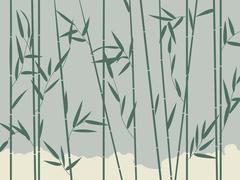 Bambu tausta Piirros