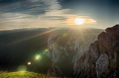 Tureni Gorge in Transylvania Romania, HDR 5 image bracketing landscape Stock Photos
