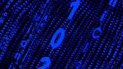 Abstract number scrolling across the screen,data code digital technology. Stock Footage