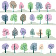 Seamless tree - stock illustration