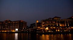 Costa Del Sol Malacca Night Scene Stock Footage
