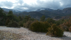 Gorge de Verdon Pan over Scrub 2 Stock Footage