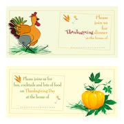 Thanksgiving day cards Stock Illustration