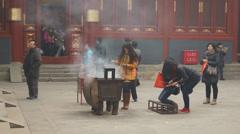 Beijing Lama Temple Yonghegong 14 Stock Footage