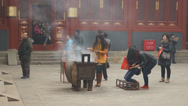 Stock Video Footage of Beijing Lama Temple Yonghegong 14
