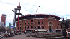 Arena of barcelona Stock Footage