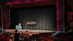 Bingo game cruise ship passengers lounge HD 1812 Stock Footage